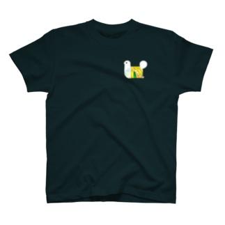 パタパタ 鳥 一匹バージョン T-shirts