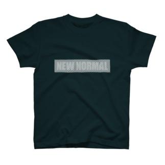 離れると読めるTシャツ/NEW NORMAL<濃色用> T-shirts