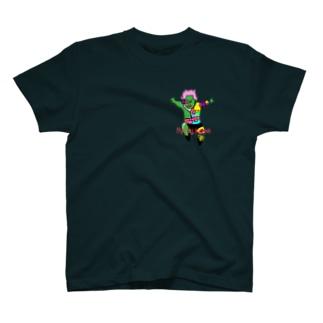 サイボーグプロレスラー 跳び膝蹴りTシャツ T-shirts