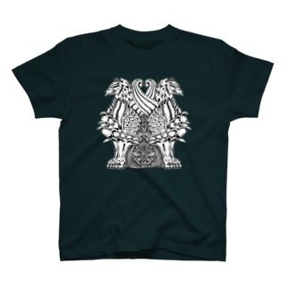 ゴシック屋↣↣ハルのグリフォン(両面プリント) T-shirts