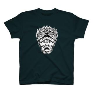 ゴシック屋↣↣ハルの嗤う彫像(両面プリント) T-shirts