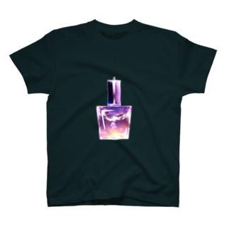 夕陽のクラゲネイルボトル T-shirts