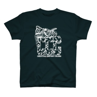 【chameleon punks T WHITE】 by K.hakariya T-shirts