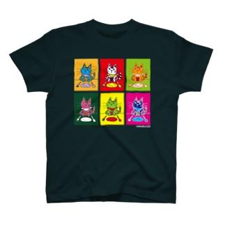 レオ6カラープリント(白ロゴ)-Tシャツ T-shirts