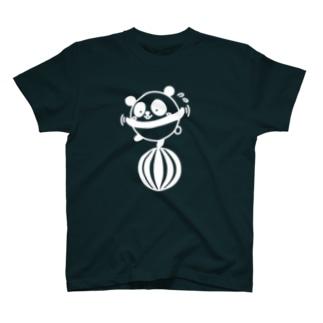 ボールコロコロ(線画:白バージョン) T-shirts