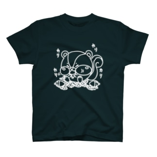 どんぐりカリカリ(線画:白バージョン) T-shirts