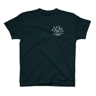 クマコロまる・突進!(小)(線画:白バージョン) T-shirts