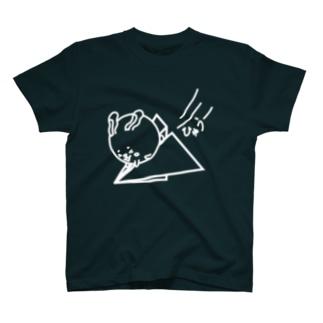 ウサコロまる・紙飛行機(線画:白バージョン) T-shirts