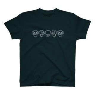 LINEスタンプのChai♡の【前面】ゆる犬のトイプードル T-Shirt