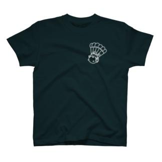 ウサコロまる・パラシュートで降下(小)(線画:白バージョン) T-Shirt