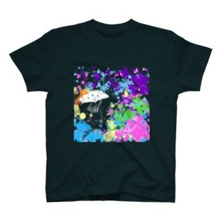 ペンキの雨の中 T-shirts