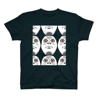 フェイスマスク。見下し。 T-shirts