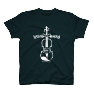 バイオリン/Peace on Earth白 T-shirts
