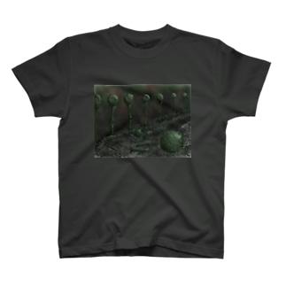 絵画「球体の遺跡」 Tシャツ