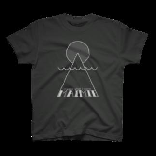 maimie WEB SHOPのmaimieハレの日(白ロゴ) Tシャツ