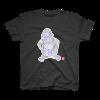 ★いろえんぴつ★のゴリラさん Tシャツ