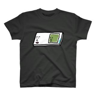 キャラNo.57プレパラートくん(スライドガラスとカバーガラスくん) Tシャツ