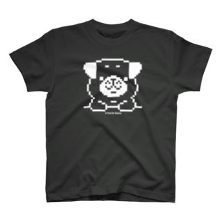ドット、パグのランラン Tシャツ