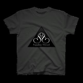 SundayStreetのバンドロゴ2Tシャツ
