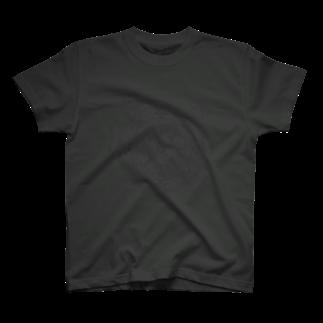 PygmyCat suzuri店の猫召喚魔法陣(グレー線)Tシャツ
