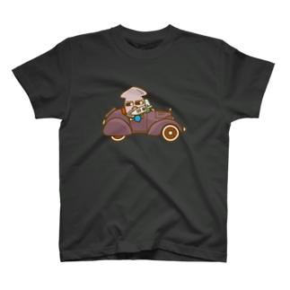イカメシくんのオープンクラシックカー Tシャツ