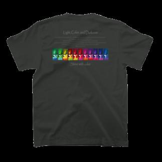 Kazumichi Otsubo's Souvenir departmentのShine with color T-shirtsの裏面