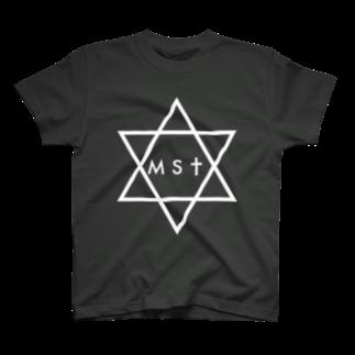 masatoのmasato#0 白ヘキサグラムTシャツ T-shirts