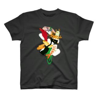 フォーリング寿司(濃色用) T-shirts