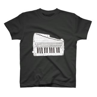 アンティーブラック(鍵盤ハーモニカ研究所オリジナルグッズ) T-shirts