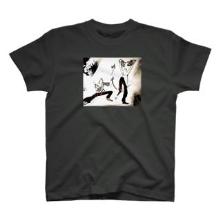 功夫 〜 蛇拳 vs 鶴拳 〜 T-shirts