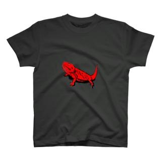 フトアゴ レッド T-shirts
