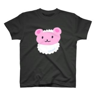 くまーめいどフェイス T-shirts