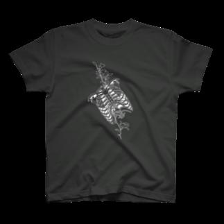 I'm not a robotのBlack-Ribs T-shirts