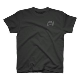 カエルとドラム ロゴ2 T-shirts