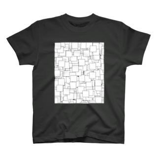 タイル black T-shirts