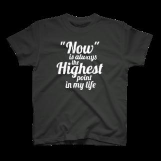 metao dzn【メタをデザイン】の【いま】が常に最高点(wh) T-shirts