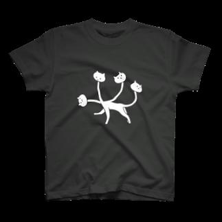 魚の目玉 SUZURI店のくびネッコ(喜怒哀楽) T-shirts