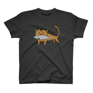 釣活の漁港猫 T-shirts