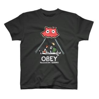めんだこちゃん OBEY (濃色用) T-shirts