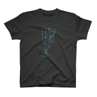 グラスの中のチス T-shirts
