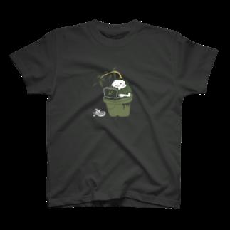 kocoonの部屋の隅のガジュマル(濃色用) T-shirts