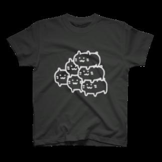LINEスタンプ販売中ぱんのピラミッドハムスター(白線) T-shirts