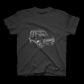 ESPERTOのRENAULT 4GTL(WH) T-shirts