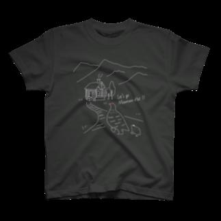 Chorob0の(濃い色)今夜は山小屋に泊まろう T-shirts