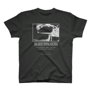 Kazumichi Otsubo's Souvenir departmentの棄てられたミシン ~ 反転BW T-shirts