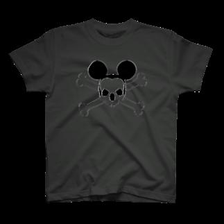 oboroのRodentia Skull T-shirt T-shirts