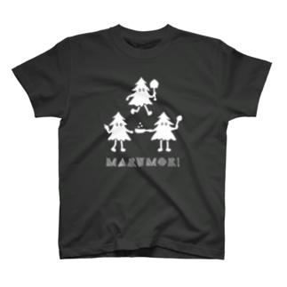 もりくん(白インクバージョン) T-shirts