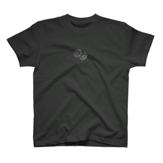 hirnのダンベル白抜き T-shirts