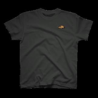 けわいのうたたねたぬき_カラー T-shirts