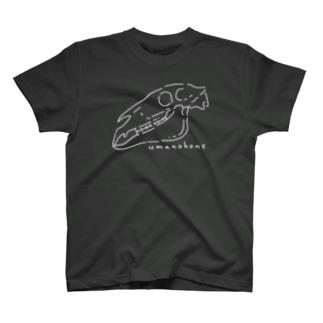 UMANOHONE ウマノホネ ホワイトライン T-shirts